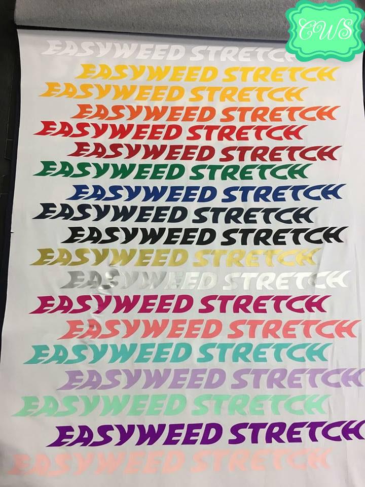 "Siser EasyWeed Stretch Heat Transfer Vinyl 1 12x15/"" Sheet Siser Stretch HTV"